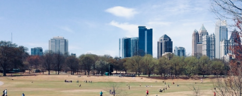 Midtown Atlanta skyline from Piedmont Park. Image by Gina Caison.